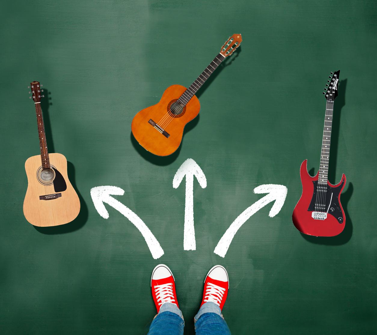 کدام گیتار را انتخاب کنم؟ آکوستیک، الکتریک یا کلاسیک؟ 1